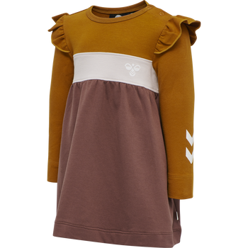 hmlVICTORIA DRESS L/S, MARRON, packshot