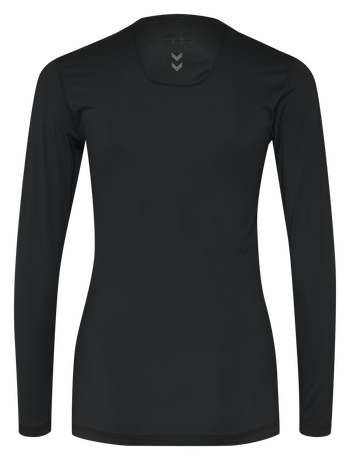 HUMMEL FIRST PERFORMANCE WOMEN JERSEY L/S, BLACK, packshot