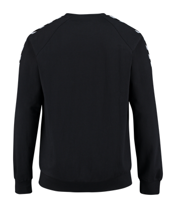 AUTH. CHARGE COTTON SWEATSHIRT, BLACK, packshot