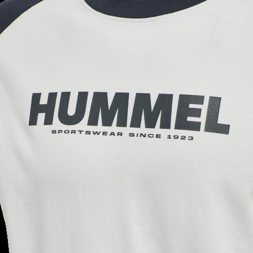 hmlLEGACY BLOCKED T-SHIRT, WHITE, packshot