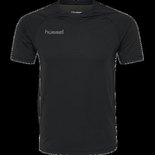 HUMMEL FIRST PERFORMANCE KIDS JERSEY S/S, BLACK, packshot