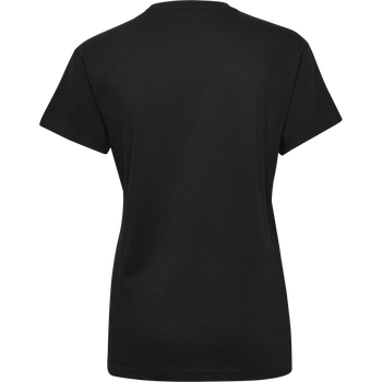 HMLGO COTTON LOGO T-SHIRT WOMAN S/S, BLACK, packshot