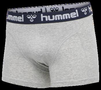 HMLMARS 2PACK BOXERS, GREY MELANGE/TOTAL ECLIPSE, packshot