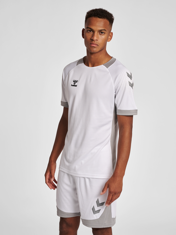 hmlLEAD S/S POLY JERSEY, WHITE, model