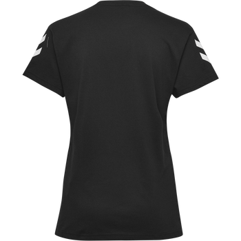 HMLGO COTTON T-SHIRT WOMAN S/S, BLACK, packshot