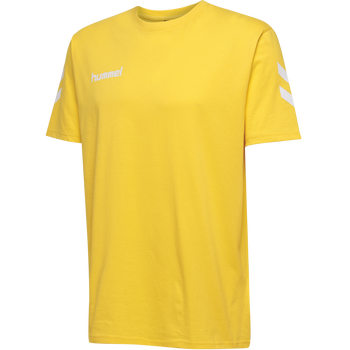 HMLGO KIDS COTTON T-SHIRT S/S, SPORTS YELLOW, packshot