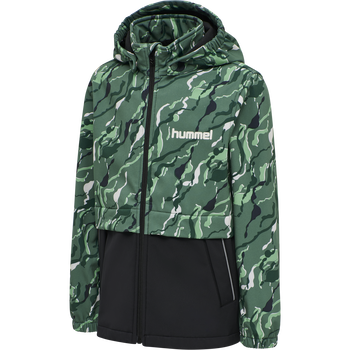 hmlCHUVA SOFTSHELL JACKET, BLUE SPRUCE, packshot