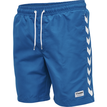 hmlRADLER BOARD SHORTS, MYKONOS BLUE, packshot