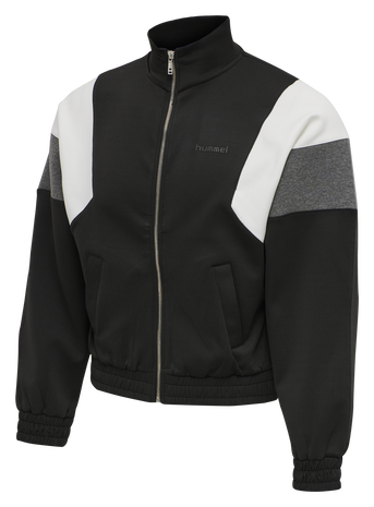 HMLMAZE ZIP JACKET, BLACK, packshot