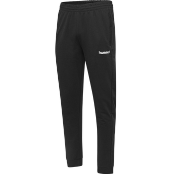 HMLGO KIDS COTTON PANT, BLACK, packshot