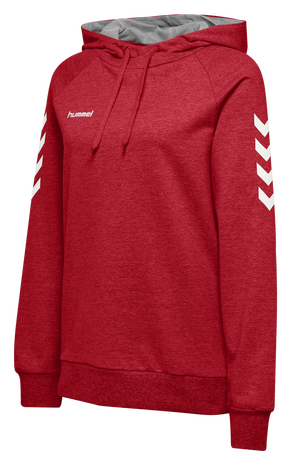 HMLGO COTTON HOODIE WOMAN, TRUE RED, packshot