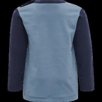 hmlNORTH T-SHIRT L/S, PROVINCIAL BLUE, packshot