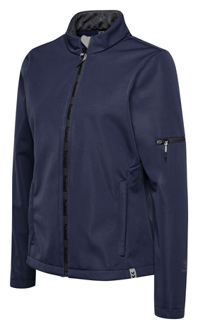 hmlNORTH SOFTSHELL JACKET WOMAN, MARINE, packshot