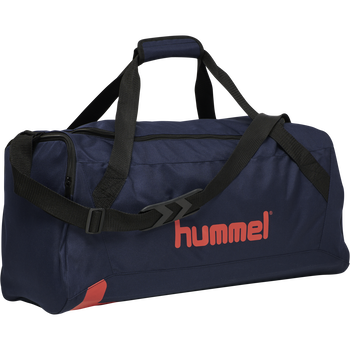 hmlACTION SPORTS BAG, DARK SAPPHIRE/FIESTA, packshot