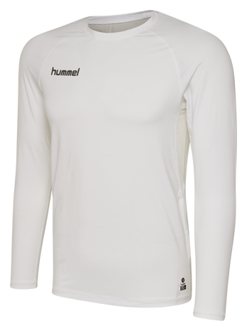 HUMMEL FIRST PERFORMANCE JERSEY L/S, WHITE, packshot