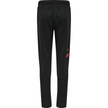 hmlACTION TRAINING PANTS KIDS, BLACK/FIESTA, packshot