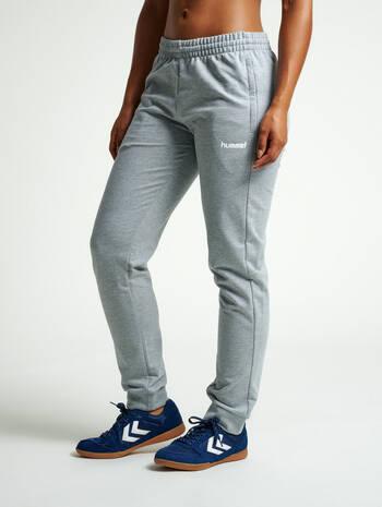 HMLGO COTTON PANTS WO, GREY MELANGE, model