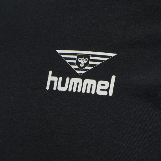 hmlHIVE COTTON TEE, BLACK, packshot