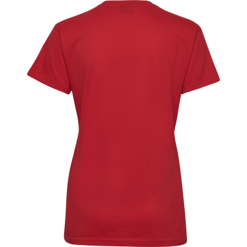 HMLGO COTTON LOGO T-SHIRT WOMAN S/S, TRUE RED, packshot
